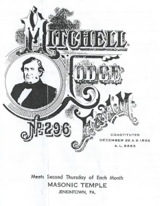 Mitchell Lodge Front Page